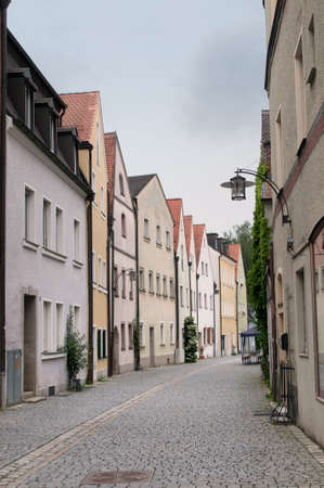 narrow: Old gothic houses in bavarian town, Germany