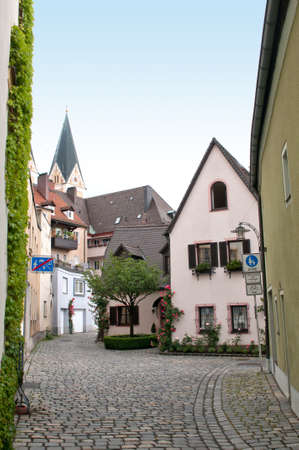 Cobbled square in a small Bavarian city, Germany Stock Photo - 11694180