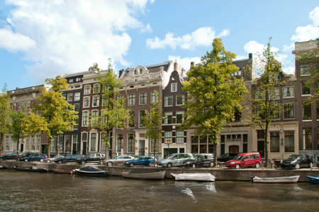 gabled house: Along a Channel in Amsterdam.