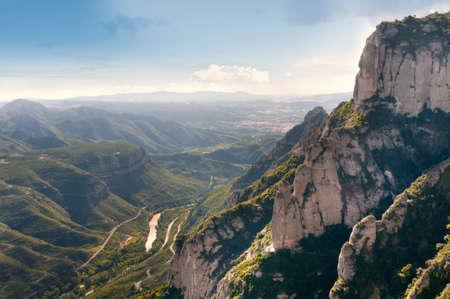 Landscape of Montserrat mountain in Catalonia, Spain photo