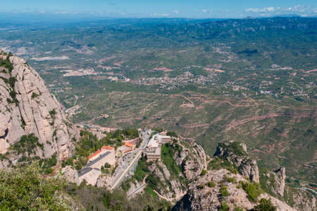 Montserrat Monastery - a Benedictine Abbey high up in the mountains near Barcelona, Spain