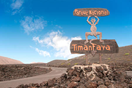 Timanfaya National Park in Lanzarote, Canary Islands, Spain Imagens - 11970482