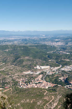 Top view from Montserrat mountain. Catalonia, Spain photo