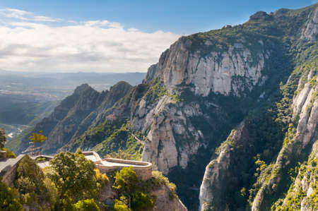 conglomeration: Montserrat mountains in Spain and an observation place