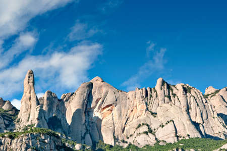 conglomeration: Montserrat mountain, Catalonia, Spain Stock Photo