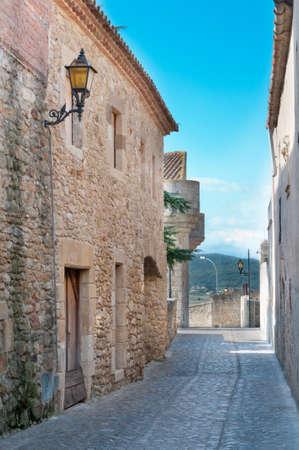 passageway: Narrow passageway in Peratallada, Spain