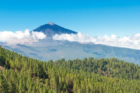 El Teide et la vallée Orotava, l'île de Tenerife, Canaries, Espagne Banque d'images