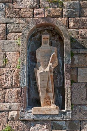 Saint George by Pablo Picasso - Santa Maria de Montserrat monastery, Tarragona province, Spain. photo