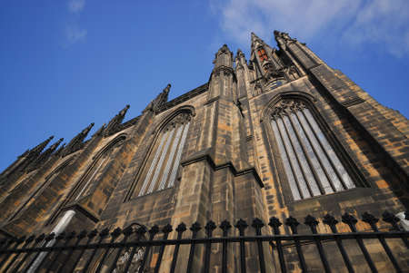 giles: St Giles Cathedral at Royal Mile High Street, Edinburgh, Scotland