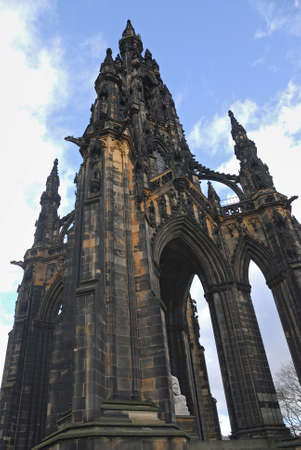 Scott Monument, Princes Street Gardens, Edinburgh, Scotland Stock Photo - 12234958