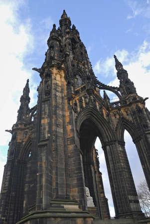 sir walter scott: Scott Monument, Princes Street Gardens, Edinburgh, Scotland Stock Photo
