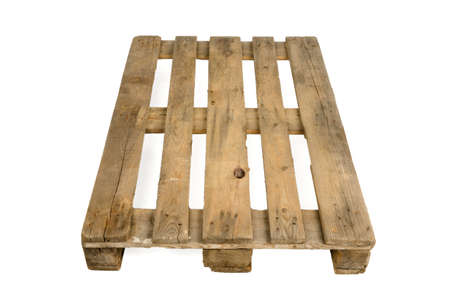 Cen euro pallet, isolated on white background photo