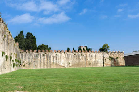mediterranian: The Medieval City Walls of Pisa, Italy