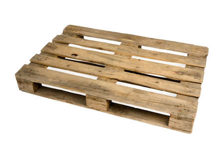 Old dirty wooden pallet photo