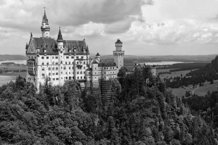 ludwig: Neuschwanstein Castle, Bavaria, Germany Editorial