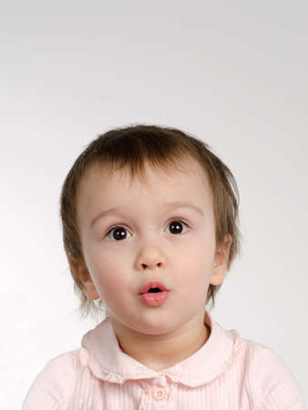 Surprised joyful baby girl close up Stock Photo - 13904131