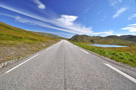 Scenic road to Nordkapp in Norway photo