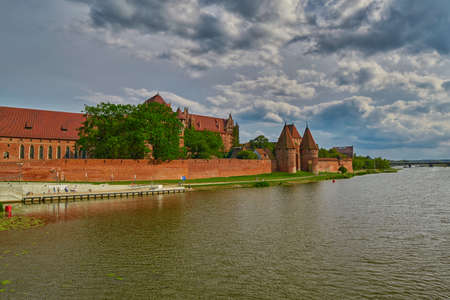 teutonic: Malbork Castle in Northern Poland, the biggest brick castle in Eastern Europe.
