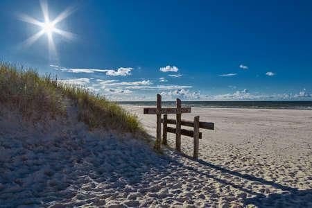 national: Leba Sand Dunes on Polish Baltic Shore Stock Photo