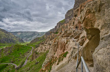 rustaveli: Vardzia Ancient Cave Monastery Town in Georgia