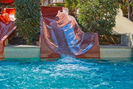 enjoyable: Water Slide and Pool in Resort Aqua Park