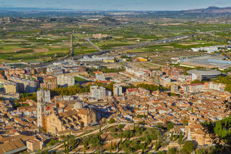 spanish home: Historic town of Xativa Aerial townscape in Valencia Region, Spain