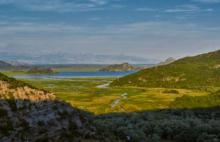 balkans: Skadar Lake National Park and Crnojevica River of Montenegro Stock Photo