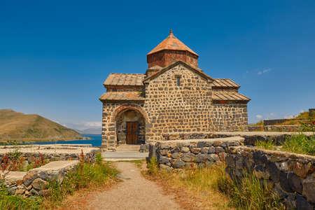 Famous Sevanavank Monastery on Sevan Lake in Armenia