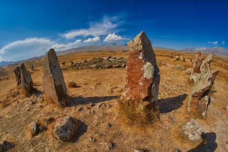 archaeological sites: Zorats Karer (Carahunge) - Prehistoric Stone Pyramids site in Armenia, also known as Armenian Stonehendge
