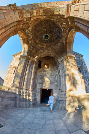 Famous Tatev Mountain Monastery in Syunik province of Armenia Stock Photo