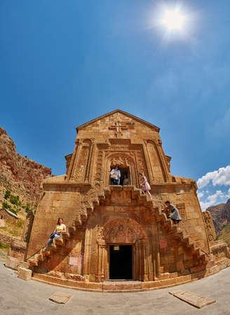 NORAVANK MONASTERY, ARMENIA - 02 AUGUST 2017: Famous Noravank Monastery Landmark in Syunik province of Armenia Editorial