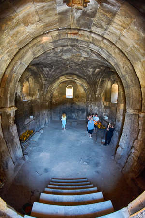 NORAVANK MONASTERY, ARMENIA - 02 AUGUST 2017:  Interior of Famous Noravank Monastery Landmark in Syunik province of Armenia Editorial