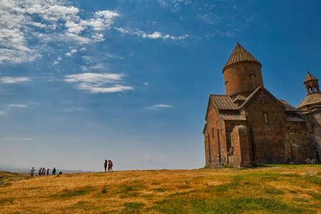 ARTASHAVAN, ARMENIA - 06 AUGUST 2017: Saghmosavank Mountain Monastery