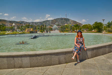 Young Woman in Rike park in the center of Tbilisi