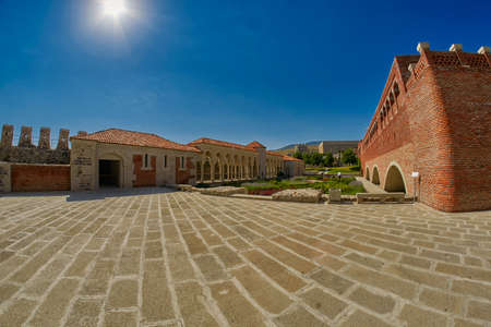 AKHALTSIKHE, GEORGIA - 08 AUGUST 2017: Majestic Rabati Castle Complex under summer sunshine Editorial