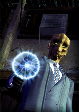 science fiction futuristic alien assassin photo