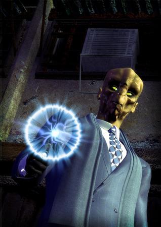 sexy army: science fiction futuristic alien assassin