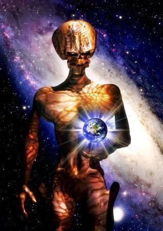 science fiction futuristic alien  photo