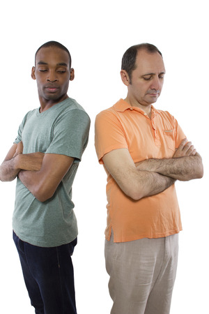 same sex relationship problems   Black male and white man photo