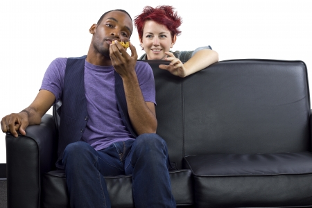 instigator: male refusing to share food with female roomate