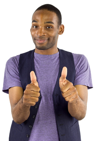 young black male isolated on a white Stock Photo - 23565019