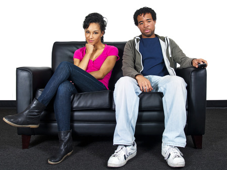 couple on couch photo