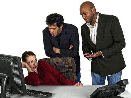 failed politics: Sexual Harassment at Work Stock Photo