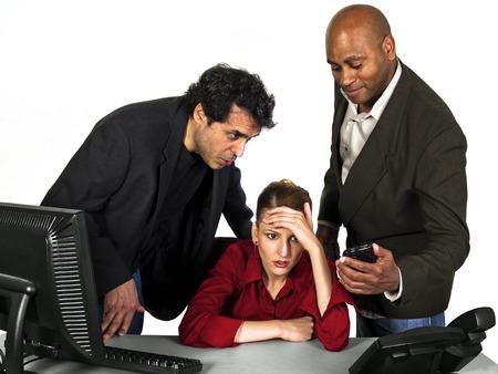 Harcèlement sexuel au travail Banque d'images - 24249854