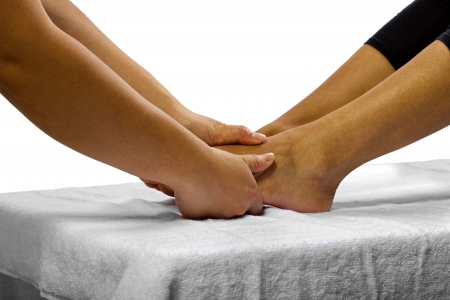 young black female getting a foot massage  Stock Photo - 24610065