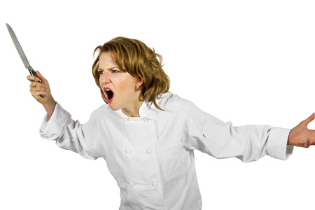 angry chef manager photo