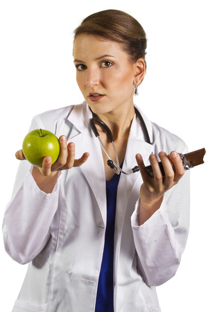 young female doctor nutritionist dietician photo