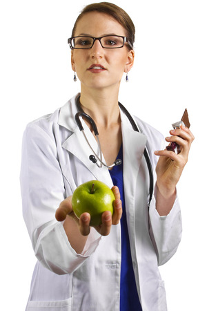 dietician: young female doctor nutritionist dietician