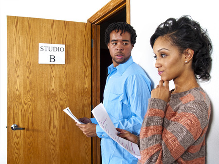 Casting Call - Actors waiting at a casting session  Film Industry  photo