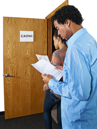 Casting Call - Actors waiting at a casting session  Film Industry